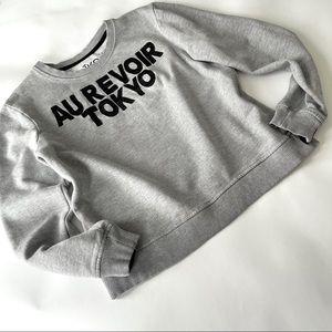 AIKO sweatshirt gray Sz M (c446)